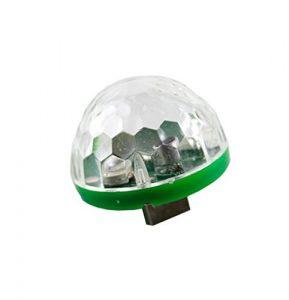 JIANGfu Mini ampoules de scène, lumières disco LED RVB DJ Effets de fête Club KTV Noël Magic Phone Ball Lamp Green – MICRO USB