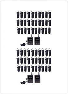 Kit de Guide Audio numérique Professionnel sans Fil (2 émetteurs + 36 récepteurs + étui de Charge pour 36 appareils)