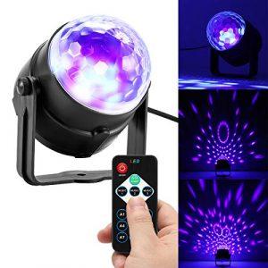Konesky Disco Lights 3W Ball Lights avec Télécommande RGB Son Activé DJ Couleur de la scène Changer Lampe pour la Fête KTV Club Pub De Mariage De Noël