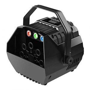 Machine à bulles à haut débit 15W avec un mécanisme de soufflage automatique et moteur silencieux, faire des milliers de bulles pour des représentations ou des soirées, facile à nettoyer – noir