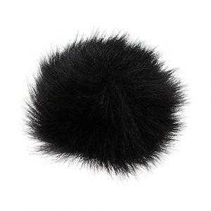MagiDeal Lot de 1Fourrure pare-brise Wind Manchon pour microphone Lavalier revers–Noir Noir