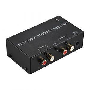Muslady Audiophile M/M Préamplificateur phono préampli avec contrôles de niveau Interfaces d'entrée et de sortie RCA
