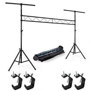 Portique Light Stand PRO pour jeux de lumière Ghost L34MHEC Hauteur max 4M + 4 Fixations + Housse de transport