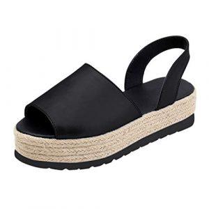 Romaines Sandals Poisson Bouche Sandales Pantoufles De Fond épais Chunky Vacances des Sandales Chaussures De Plage Dentelle Espadrilles Rovinci