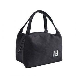Sac Isotherme, Portable Lunch Bag Réutilisable pour Panier-Repas Repas Multi-usages Style Sac à Déjeuner Adulte pour Travail Ecole Voyage Pique-Nique Camping Repas Préparés feiXIANG (N)