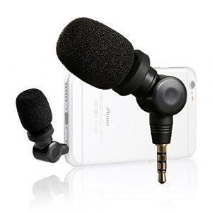 Saramonic SmartMic Mini Microphone Jack 3.5mm Flexible Condensateur Directionnel, Microphone Vlogging Vidéo pour téléphone Portable Android et Appareils Apple iOS iPhone X 8 7 6 Plus iPad iPod