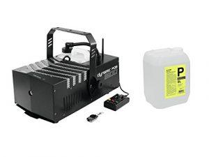 showking–Machine à Fumée dfo1500230V/1500W, temps de préchauffage 270s, volume de fumée CA 430M³/min. + 5L Fluide à longue durée et haute densité–Machine à Fumée