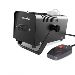 Theefun Machine à fumée professionnelle et portable 400 W avec télécommande câblée pour les cadeaux de Noël, Halloween, mariage, théâtre, fête et disco Club DJ