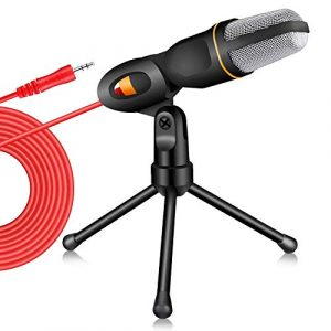 Tonor Professional Studio Filaire Microphone à Condensateur avec Le Support pour PC Portable Ordinateur