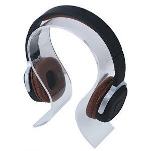 Vivian Acrylique support de présentation d'écouteurs/Casque support/casque Cintre support claire