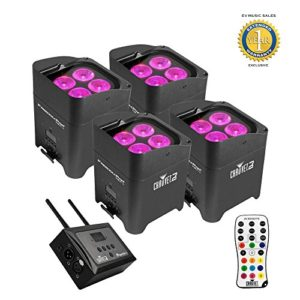 Chauvet DJ Freedom Par Hex-4 LED Noir + FlareCON Air Wireless Bundle émetteur