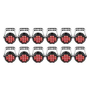 Chauvet DJ SlimPAR Pro Q USB sans fil DMX RGBA LED Wash Lumière 12-Pack