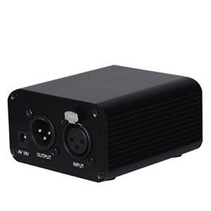 EgoEra® Unique Canal 48V Interface XLR Alimentation Fantôme Leistungversorgung pour tout micro à condensateur Mixer Musique Enregistrement vocal Annulation de bruit