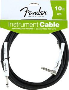 Fender Instrument BK lomený Câble 3 m Noir