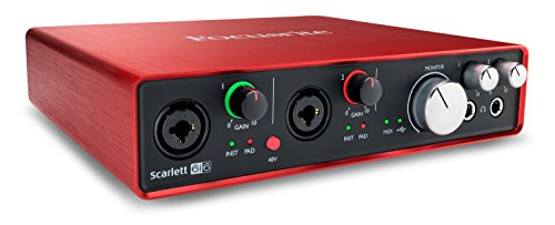 Novation Launch Control Portable USB MIDI Contoller avec 16boutons programmables et huit Pads3 Interface seulement 6i6-2 Mic Pres Red