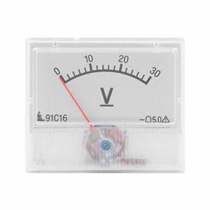 Panneau de tension analogique professionnel DC 0-30 V avec précision de classe 2,5 Portable et pratique