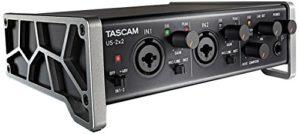 Tascam US-2×2 – Interface Audio/MIDI USB (2 entrées, 2 sorties), Noir