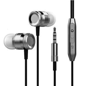 voberry écouteurs, avec microphone 3,5mm Basse stéréo écouteurs intra-auriculaires Casque écouteurs