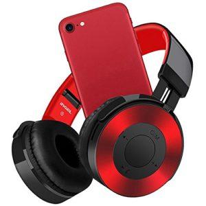 voberry écouteurs, Bluetooth casque sur boucles d'Câble Hallo-Fi et micro casque stéréo sans fil avec micro tf carte FM