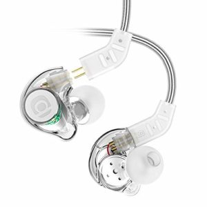 Adorer IM8 Professional Universal-fit In Ear Monitor avec Microphone, Câbles détachables Casques Intra Auriculaires