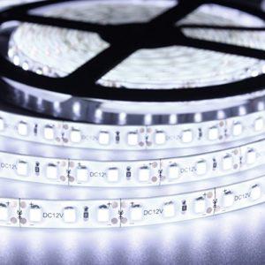 HKHJN 5M 15W DC12V 600 SMD 2835 Etanche IP65 Blanche/Chaud Ruban LED Flexible Lumière LED HKHJN Couleur blanc pur