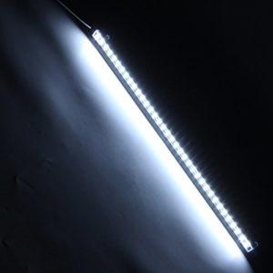 HKHJN DC12V 50CM 14.4W SMD5630 Forme de U Double rangée Barre Rigide de Lumière LED avec connecteur femelle DC HKHJN Couleur blanc pur