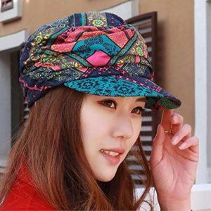 HKHJN HKHJN Chapeau de printemps et d'été pour femme avec visière plate et élégante couleur/H