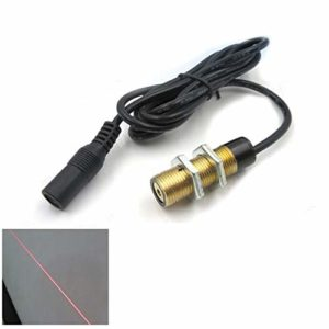 Module laser de ligne de lampe d'émission laser rouge à coquille filetée Classe ⅢA 635NM 5MW M12 * 1