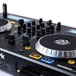 Numark Mixdeck Express – Contrôleur DJ 2 Voies et Lecteur CD/CD MP3 et USB, Table de Mixage 2 Voies, Jog Wheels Multifonctions et Serato DJ Lite Inclus