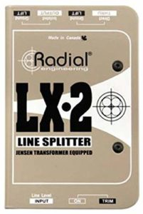 Radial LX2 2 canaux Balanced Line Splitter W/isolation