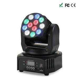 Tomshine Lyre Led, Lampe de Scène Tête mobile Effet de lavage Prise en charge de l'activation du son 40W 12 LED RGBW AC90-240V 14/16 Canaux Auto DMX512 Master-Slave Mode Pour KTV DJ Disco