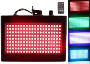 180 lumiere dj de LED, Latta Alvor Éclairage de scène Lumière stroboscopique d'étape de clignotant pour l'éclairage d'étape de disco de parties avec télécommande automatique activée par son