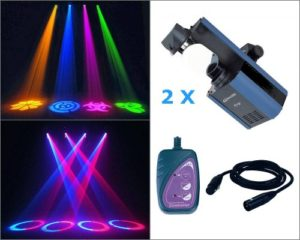 Eclairage JB SYSTEMS LIGHT 2 X DYNAMO 250 + 1 TELECOMMANDE + 1 CABLE DMX 6M Scanners