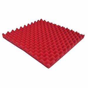 Hukezhu – Mousse insonorisante pour studio d'enregistrement et salle vidéo, isolation acoustique et acoustique – Panneau d'insonorisation – 50 x 50 x 2 cm, rouge