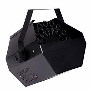Machine à Bulles Mariage, 25W 220V Portable 1L Electrique Souffleur de Bulles pour Domicile/en Plein Air Produire Bulles(Noir)
