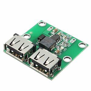 Moobom DC Voltage Step Down Regulator Double sortie Usb 6-24 V Jusqu'à 5,2 V 3 A Dc-Dc Step-Down-Module convertisseur
