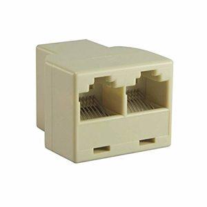 Ndier Adaptateur Splitter RJ45 de 1 à 2 Double Femelle Port Cat 5 / Cat 6 LAN Ethernet Socket Splitter Adaptateur connecteur Produits pour Ordinateurs