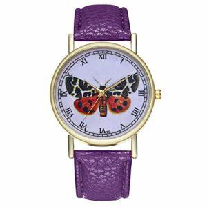 Bracelet en métal pour femme – Élégante montre à quartz analogique – Argent e517PPLila