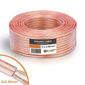 Câble Haut-Parleur 2x 2,5mm² 30m