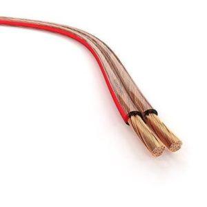 Generic Haut-Parleur en cuivre série RO☛ E Pro 50 m 2 x 4 mm Lot de 2 câbles Transparents pour sparen OFC série OFC 50 m