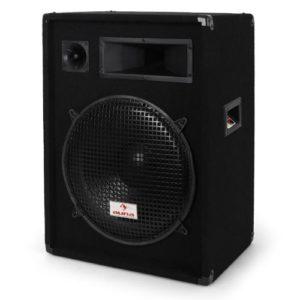 Malone PW-1522 – enceinte passive à 3 voies, Haut-parleur, performance 800 Watt max, subwoofer 38 cm (15″), Enceinte medium, Tweeter Piezo, Réponse de fréquence: 30 Hz à 18 kHz, Noir