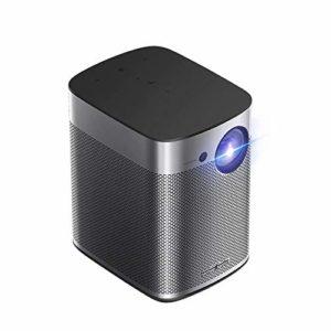 Projecteur Mini HD 1080P Portable Projecteur extérieur pour Bureau à Domicile sans écran Projecteur Intelligent sans Fil WiFi