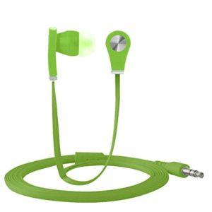 strir écouteurs stéréo de 3.5mm en-oído pour téléphone mobile universel téléphone cellulaire vert