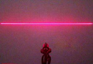 Ajustée 12x45mm Ligne Laser Module 200mW 650nm Rouge Diode Laser / AC + Titulaire + Adaptateur