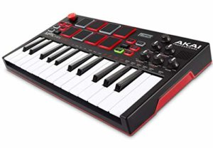 AKAI Professional Mpk Mini Play – Clavier Maître MIDI/USB avec Haut-Parleurs Intégrés, Pads MPC, Effets Intégrés, 128 Instruments, 10 Sons de Batterie et Suite de Logiciels Incluse, Noir