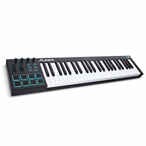 Alesis V49 – Clavier Maître USB-MIDI 49 Touches Portable avec 8 Pads Sensibles Rétroéclairés, 4 Encodeurs Assignables, et Suite de Logiciels Professionnels avec ProTools | First Incluse