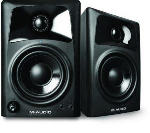 M-Audio AV 32 Paire d'Enceintes de Monitoring Actives Compactes 20W – Système Audio Mac et PC de Référence pour Création Multimédia