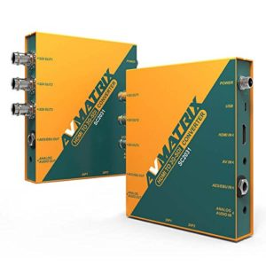 Avmatrix Sc2031HDMI/AV vers 3G-SDI mise à l'échelle du convertisseur HDMI Sortie: 3G-SDI × 3, AES/EBU X 1, Audio analogique × 1Up/Down l'échelle et de conversion de fréquence