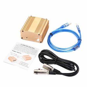 Câble d'alimentation USB fantôme 48V USB Câble USB2.0 Câble à fiche double pour microphone, équipement d'enregistrement à condensateur – Or