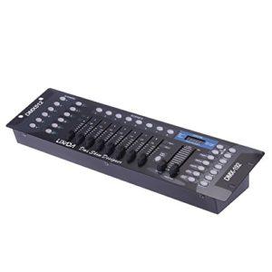 DMX Contrôleur, Lixada DMX 512 Console, 192 Canaux Equipment pour DJ Disco Light Party scène Eclairage de Chambre Salon Salle